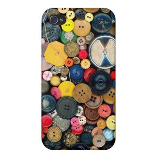 - Botones - manojo de costura de botones iPhone 4 Cárcasa