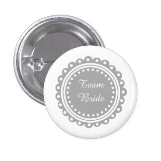 Botones modernos de encargo de la novia del equipo chapa redonda 2,5 cm
