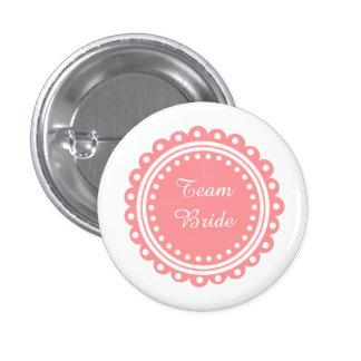 Botones modernos de encargo de la novia del equipo chapa redonda de 2,5 cm