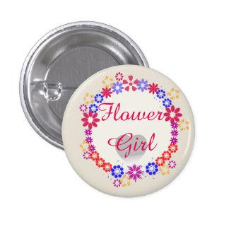 Botones modernos de encargo del florista del boda chapa redonda de 2,5 cm