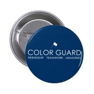 Botones modernos del guardia de honor chapa redonda de 5 cm