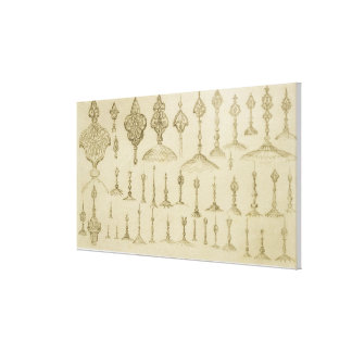 Botones ornamentales formados como bóvedas y almin lona envuelta para galerias