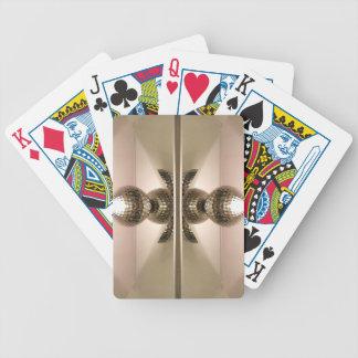 Botones reflejados geométricos limpios modernos barajas de cartas