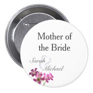 Botones rosados del ensayo del boda de la flor chapa redonda de 7 cm