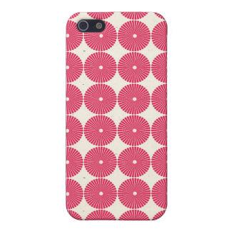 Botones texturizados disco rosado bonito de los iPhone 5 cárcasa