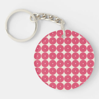 Botones texturizados disco rosado bonito de los llavero redondo acrílico a doble cara