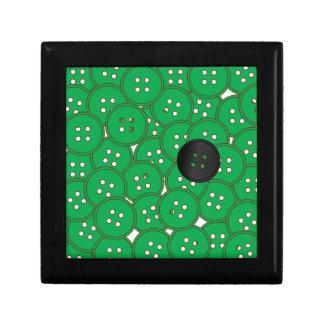 Botones verdes caja de regalo