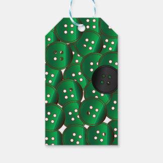 Botones verdes etiquetas para regalos