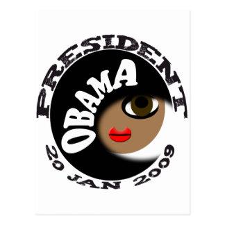 ¡Botones y camisetas de la inauguración de Obama! Tarjeta Postal