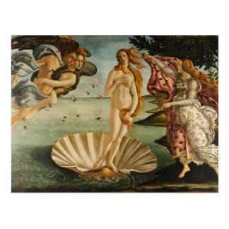 Botticelli el nacimiento de la postal de Venus
