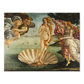 Botticelli el nacimiento de las invitaciones de anuncio