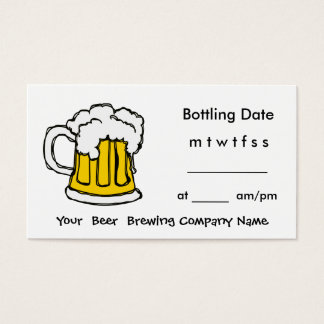 Bottle Appointment Brewing Company, barra, U-Brew Tarjeta De Negocios