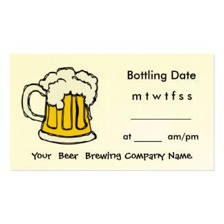 Bottle Appointment Brewing Company, barra, U-Brew Tarjetas De Visita