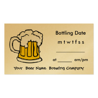 Bottle Appointment Brewing Company, barra, U-Brew Plantilla De Tarjeta De Visita