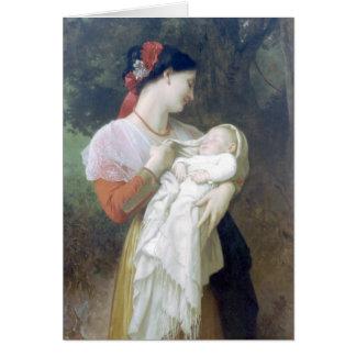Bouguereau - admiración Maternelle Tarjeta De Felicitación
