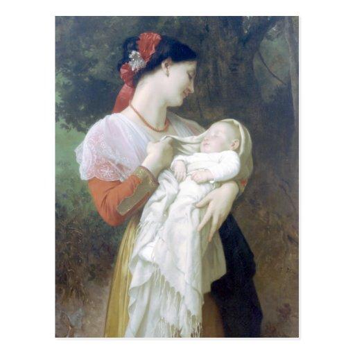 Bouguereau - admiración Maternelle Postales