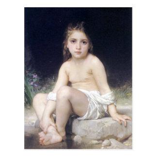 Bouguereau - au menudo Bord de l'Eau de Fille Postal