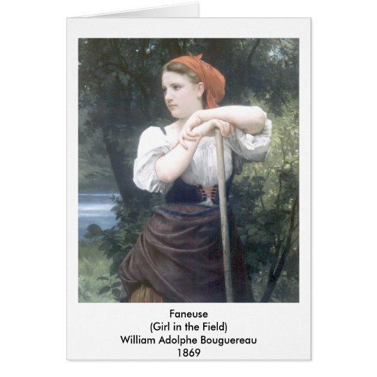 Bouguereau - Faneuse Tarjeta De Felicitación