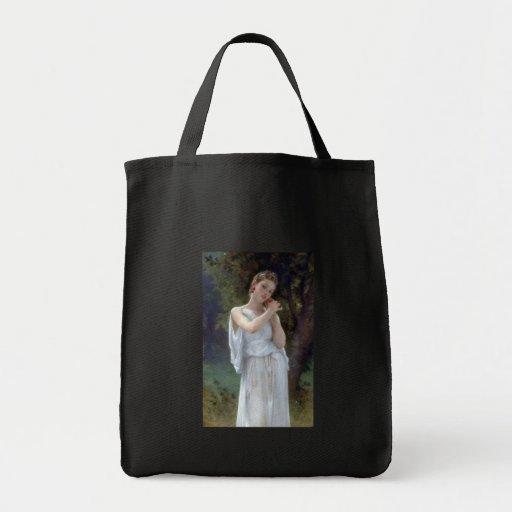 Bouguereau la mujer joven de los pendientes bolsas lienzo