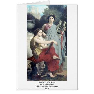Bouguereau - L'Art y la Litterature Tarjeta De Felicitación