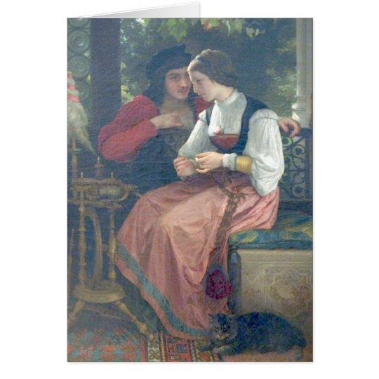 Bouguereau - seducción tarjeta de felicitación