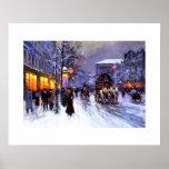 Boulevard de la Madeleine, invierno. Poster de la