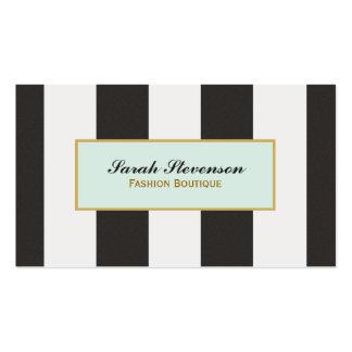 Boutique blanco y negro elegante de la moda de las tarjetas personales
