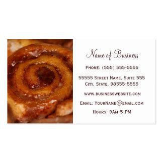 Boutique de la panadería de la repostería y pastel tarjetas de visita