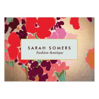 Boutique elegante floral colorido artístico de la  tarjetas de visita grandes