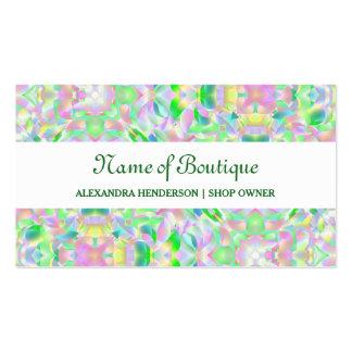 Boutique floral abstracto en colores pastel tarjetas de visita