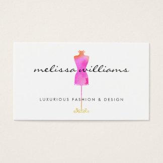 Boutique rosado de la moda del maniquí del vestido tarjeta de negocios
