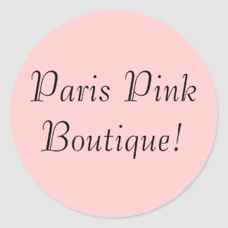 ¡Boutique rosado de Paria! Pegatina