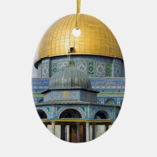 Bóveda de la ciudad vieja del templo de cadena de adorno navideño ovalado de cerámica