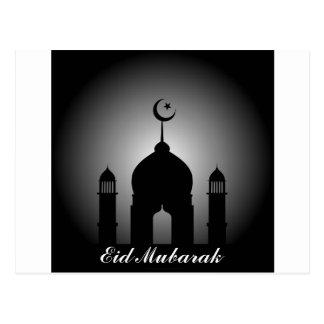 Bóveda de la mezquita y silueta del alminar postal