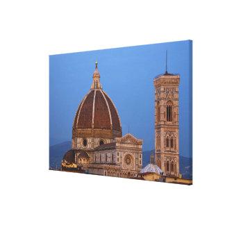 Bóveda de Santa María del Fiore Cathedral en calie Impresión En Lona Estirada