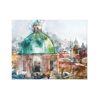 Bóveda en la República Checa de Praga Impresión En Lienzo