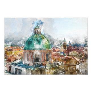 Bóveda en la República Checa de Praga Impresiones Fotograficas