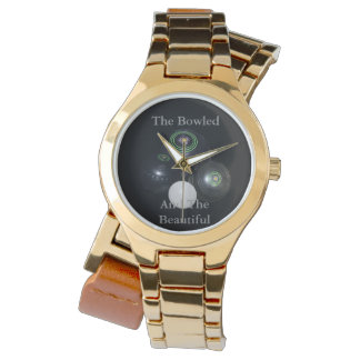 Bowled_And_Beautiful_Ladies_Gold_Lawn_Bowl_Watch Reloj