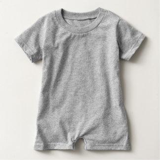 Bowtie y mameluco del bebé de los botones camiseta