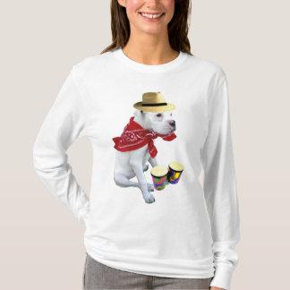 Boxeador blanco con la camiseta de los bongos
