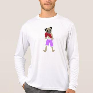 Boxeador de los guantes de boxeo del perro del camisas
