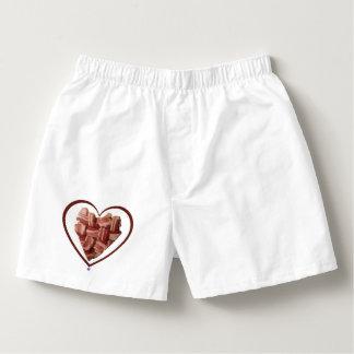 Boxeadores del corazón del tocino calzoncillos