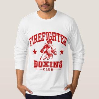 Boxeo del bombero camiseta