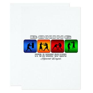 Boxeo fresco es una manera de vida invitación 12,7 x 17,8 cm