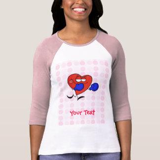 Boxeo lindo del corazón camiseta