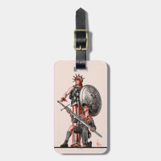 Boy scout y libertad etiqueta para maleta