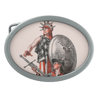 Boy scout y libertad hebillas cinturon ovales