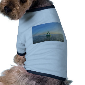 Boya verde del canal camisetas de mascota