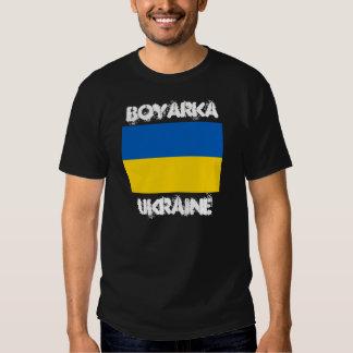 Boyarka, Ucrania con la bandera ucraniana Camisetas