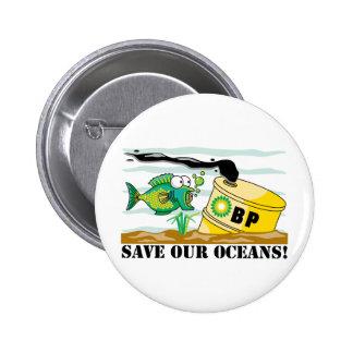 BP ahorra nuestros océanos Chapa Redonda De 5 Cm